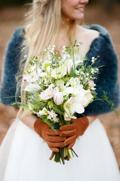 Wit bruidsboeket.