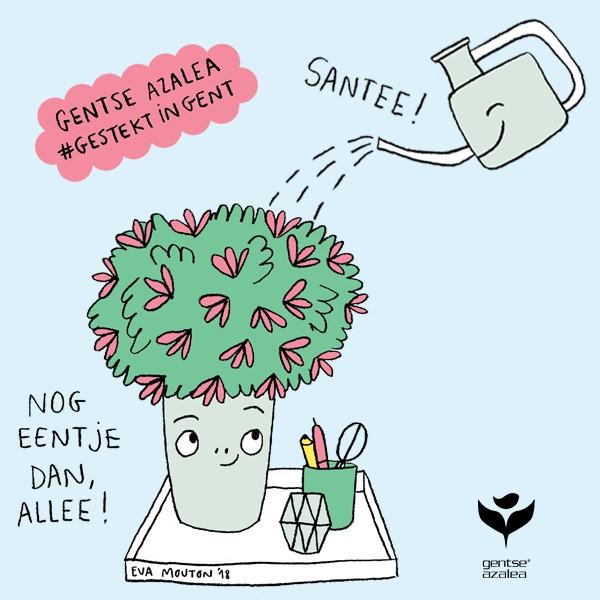 illustratie Eva Mouton voor actie met Gentse azalea