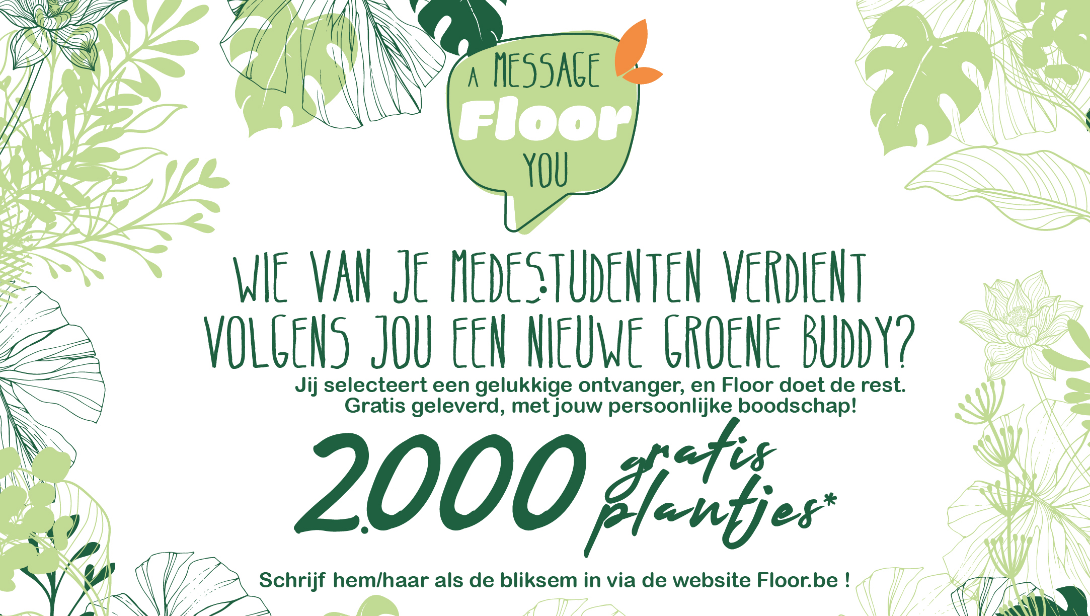 Registreer hier een gratis plantje voor een vriend(in)